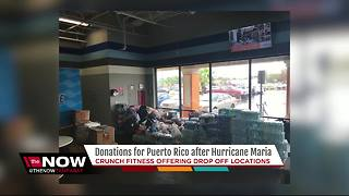 Crunch Fitness hosts drop-off sites for hurricane relief donations for Puerto Rico - Video