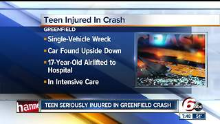 Teen injured in single-vehicle crash in Greenfield - Video