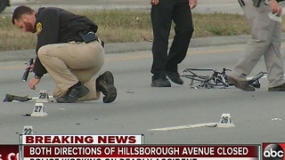 Bicyclist killed in hit and run in Tampa 2 - Video