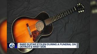 Rare guitar made during The Great Depression stolen from man's car - Video