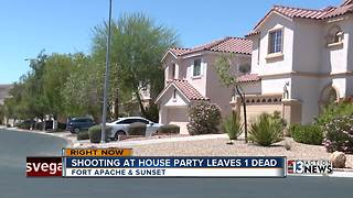 Shooting at house party leaves one person dead - Video