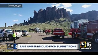 Base jumper rescued at Superstition Mountains