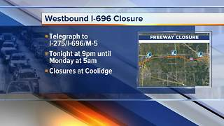 Weekend closures on Westbound I-696 - Video