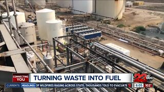 Renewable energy plant turns waste into fuel