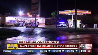 Tampa Police investigating four overnight store robberies