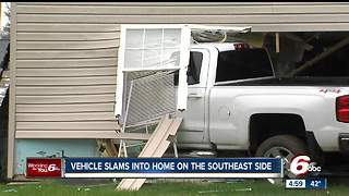 Truck slams into home on Indianapolis' southwest side - Video