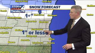 Light, spotty snow Thursday night - Video