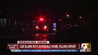 Driver killed after car goes into Avondale home Saturday morning