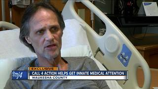 Waukesha inmate claims he was denied medical care while in custody - Video