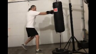 Heavy bag workout 15