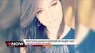 Mother to bring awareness to mental health after daughter's death