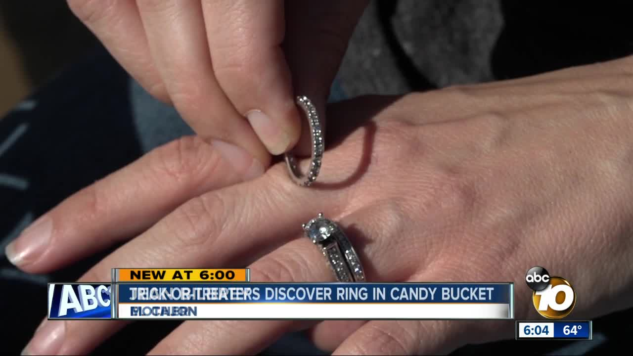 Trick-or-treater makes startling discovery in candy bucket