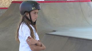 11-year-old skateboarder preparing for X-Games