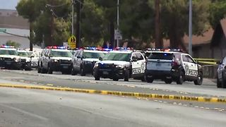Las Vegas police say two early morning shootings connected