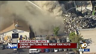 Fire breaks out near Van Nuys airport