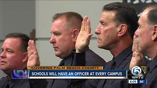Superintendent says every Palm Beach County school will have a police officer - Video