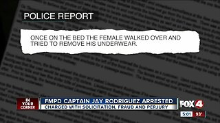 Fort Myers Police Captain Jay Rodriguez arrested for prostitution, perjury