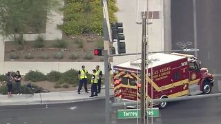 Ambulance on the scene of a car, bicycle crash - Video