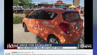 Spring Valley High School student wins new car - Video