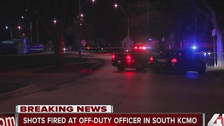 Off-duty KCMO officer shot at - Video