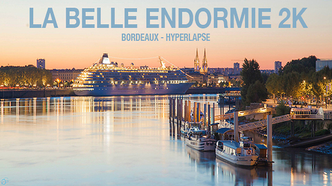 Gorgeous time lapse featuring Bordeaux at night