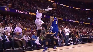 LeBron James Impersonates Draymond Green with KICK to Andre Iguodala's Nuts - Video