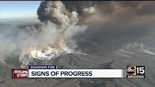 Goodwin Fire at 43 percent containment - Video