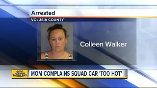 Police: Florida mom arrested for leaving son in hot car says ride to police station 'too hot' - Video