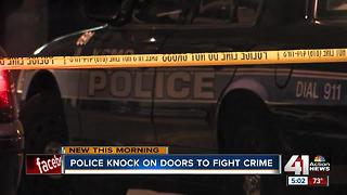 Police knock on doors to fight crime in south KC - Video