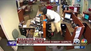 3 men sought in Seacoast bank robbery in Port St. Lucie - Video
