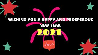 HAPPY NEW YEAR 2021 FROM LONDON UK