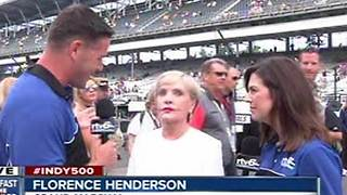 Florence Henderson at the Indy 500