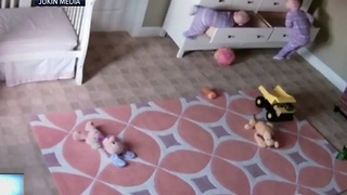 Dresser falls on toddler twins, prompting need to secure furniture - Video