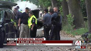 Two people dead after car crashes into a tree on Prospect Avenue - Video