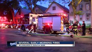Early morning fires on Milwaukee's South Side - Video