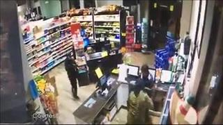 Surveillance video: Robbery at 7 Food Mart in Golden Gate, Florida - Video