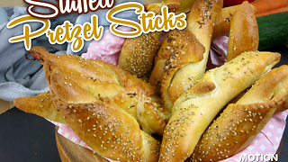 How to make stuffed pretzel sticks - Video