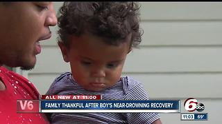 Family thankful after 1-year-old recovers from near-drowning experience - Video