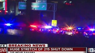215 beltway shut down near Sahara Avenue - Video
