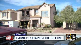 El Mirage family recovering after house fire - Video