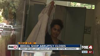 Brides stuck in limbo as Alfred Angelo abruptly closes all stores - Video