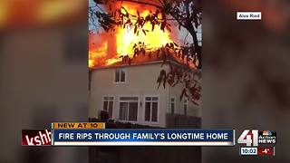 Fire rips through Leawood home - Video