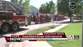 One dead after house fire in KCMO - Video