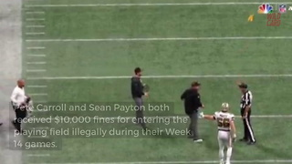 NFL Cracks Down On Pete Carroll And Sean Payton For Illegally Entering The Field - Video