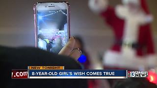 Make-A-Wish Southern Nevada surprises little girl at Christmas parade - Video