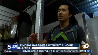 Finding happiness without a home