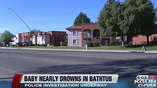 Near drowning reported afer baby found in bathtub - Video