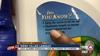 Law firm investigates claims chemical in weed killer may be linked to cancer - Video