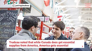 """Justin Trudeau Says Not Sending N95 Masks To Canada From The US Would Be A """"Mistake"""""""