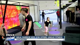 Unique gym offers 'ninja warrior' fitness to kids - Video